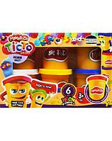 Тесто для лепки Master-Do DankO toys 6 цветов 8124DTR, КОД: 257682