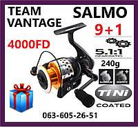 Катушка Спиннинговая  Salmo Team Vantage 4000 FD  Рыболовная Безынерционная Салмо для спиннинга