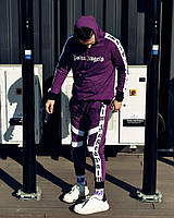 Костюм Худи+штаны унисекс фиолетовый Palm Angels Espo
