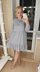 Платье горошек в расцветках 901117