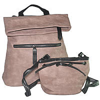 Комплект сумка-рюкзак и клатч-мешочек 01540895543353pink розовый