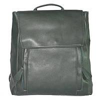 Женский рюкзак с двумя молниями 01540894938123green зеленый