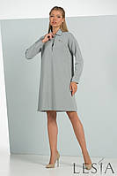 Модное платье-трапеция из трикотажа Lesya Торано.