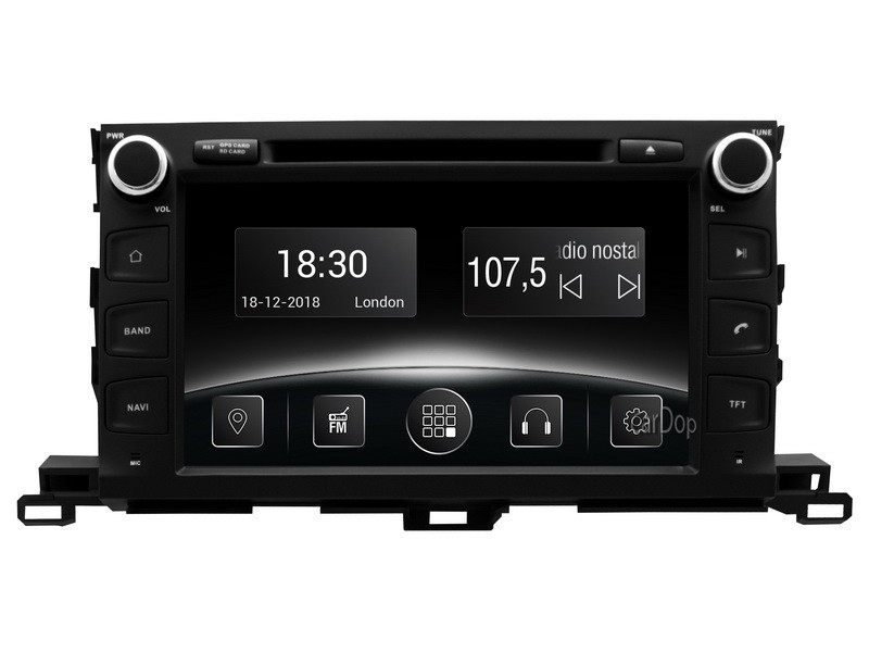 Штатна магнітола Toyota Highlander XU50 2015-2017 CarPlay DVD