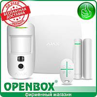 Комплект сигнализации AJAX StarterKit Cam (белый)