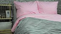 Комплект постельного белья двуспальный (евро), хлопок 100% ранфорс, розовый