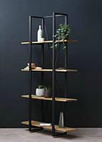 Стеллаж в стиле лофт из массива дерева и металла