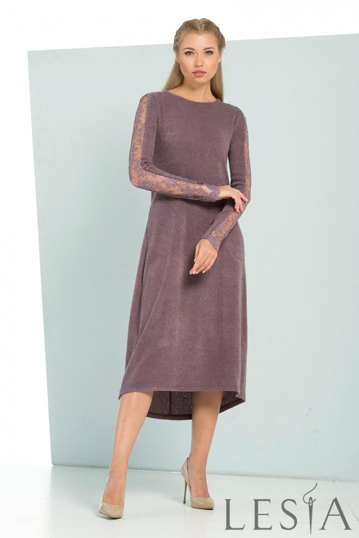 Оригінальне трикотажне жіноче плаття Lesya Хальта.