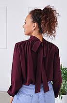 """Стильная блузка с бантом сзади """"Sonata"""", фото 2"""