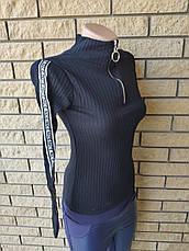 Гольф, светр коттоновый на блискавці жіночий DIVA, Туреччина, фото 2