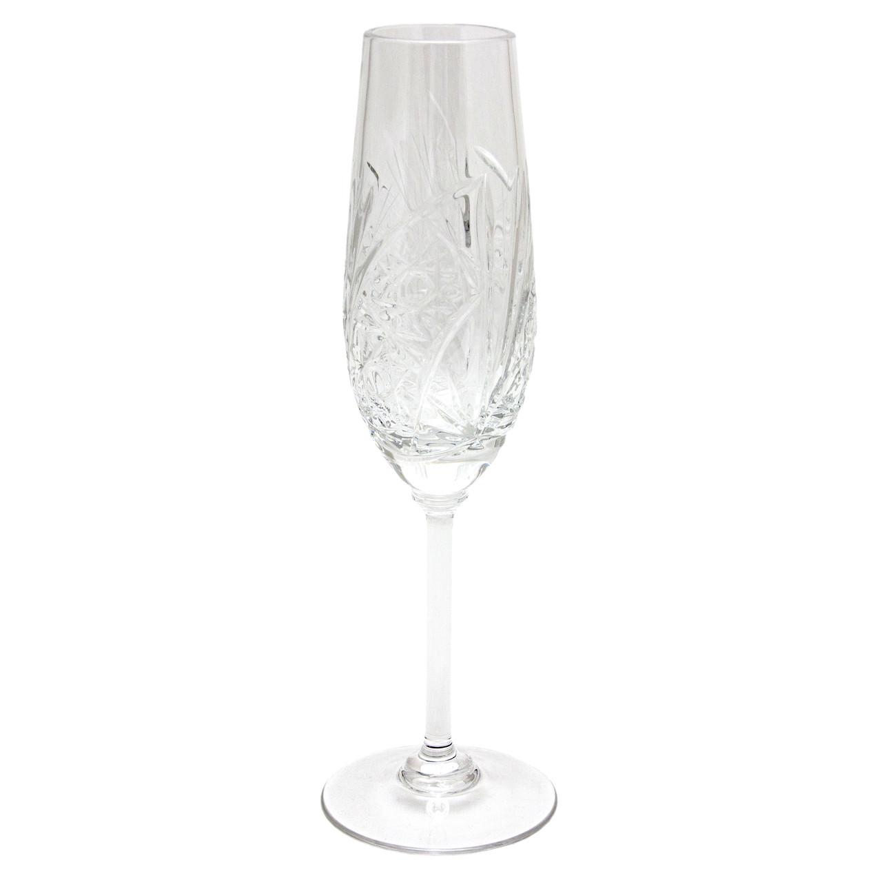 Хрустальный бокал для шампанского, узор - геометрический рисунок, объем - 160 мл, высота - 22,5 см (8560/2-2)
