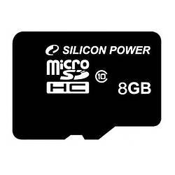Карта памяти microSDHC Silicon Power 8Gb 00000033477, КОД: 700993
