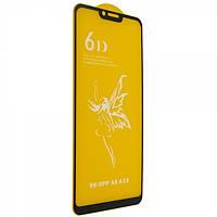 Защитное стекло 6D Glass Premium для Oppo A3S, A5 Черный 115783, КОД: 1537178