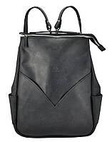 Кожаный рюкзак Agruz W 07 черный