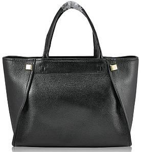 Жіноча шкіряна сумка чорна 9902