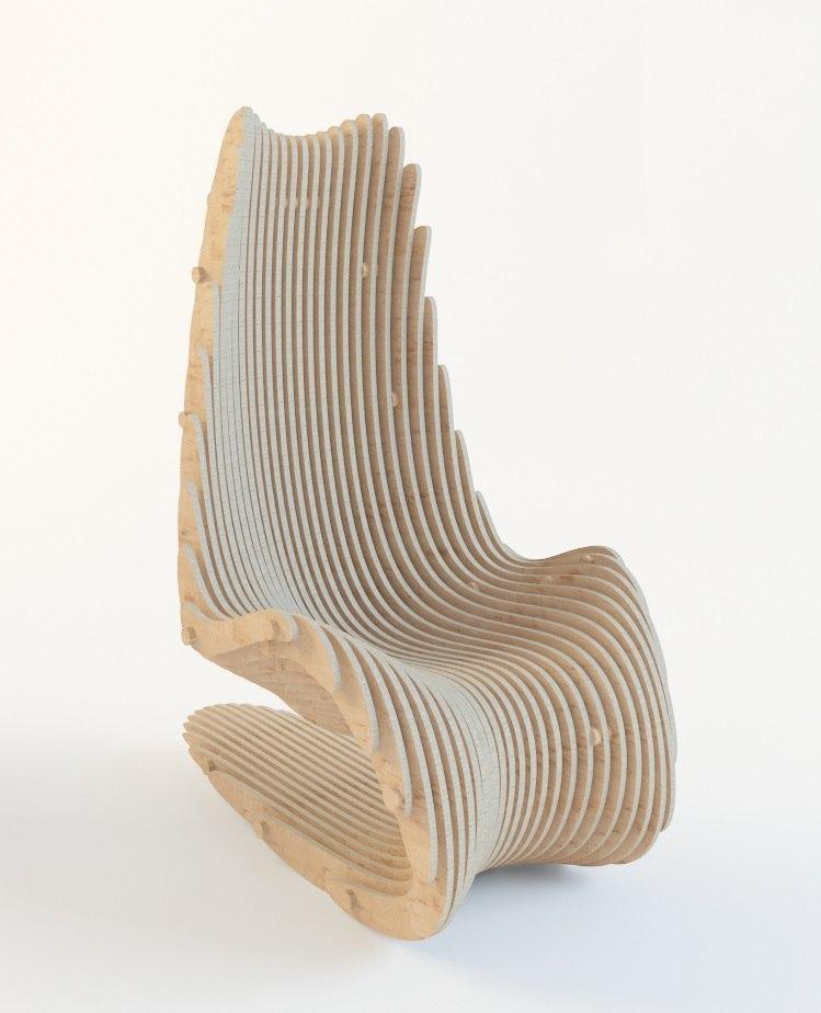 Кресло параметрическое  3D кресло 1600*1200*800(16)мм