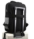 """Рюкзак противоударный для ноутбука 15,6"""" с usb, черный с серым ( код: IBN008BS ), фото 8"""