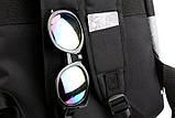 """Рюкзак противоударный для ноутбука 15,6"""" с usb, черный с розовым ( код: IBN008BP ), фото 9"""