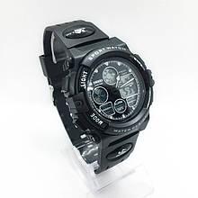 Часы мужские спортивные водостойкие SKMEI 1163 (Скмей), черный цвет ( код: IBW276B )
