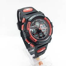 Часы мужские спортивные водостойкие SKMEI 1163 (Скмей), черно-красные ( код: IBW276BR )