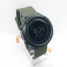 Часы мужские спортивные водостойкие SKMEI 1426 (Скмей) зеленые с черным ( код: IBW281GB )