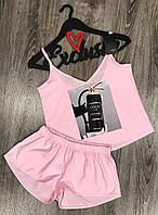 Дизайнерская пижама майка+шорты с рисунком.