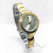 Часы женские наручные Versace (Версаче), золото с серебром ( код: IBW287YS )