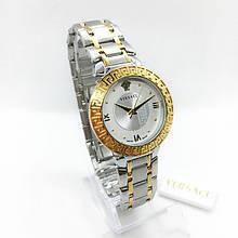 Часы женские наручные Versace (Версаче), цвет золото с серебром ( код: IBW286SY )