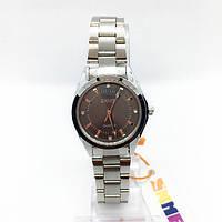 Часы женские наручные Skmei (Скмеи), цвет серебро с черным циферблатом ( код: IBW289SB )