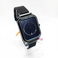 Часы мужские наручные Skmei (Скмеи), цвет черный с синим циферблатом ( код: IBW290BZ )