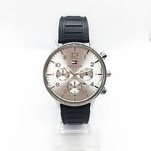 Часы мужские наручные Тоmmy Нilfigеr (Томми Хилфигер) на силиконовом ремешке, цвет серебро ( код: IBW298S )