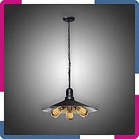 Светильник подвесной в стиле лофт на 3 лампы черный