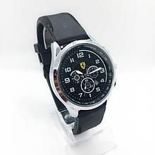Часы мужские наручные Ferrari (Феррари), цвет серебро с черным циферблатом ( код: IBW304SB )