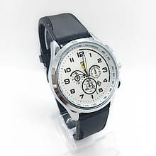 Часы мужские наручные Ferrari (Феррари), цвет серебро с белым циферблатом ( код: IBW304SO )