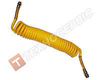 Шланг причепа спіральний жовтий 4527130010(М22х1.5) 7м (PU) поліуритан MAN,DAF,VOLVO,MERCEDES