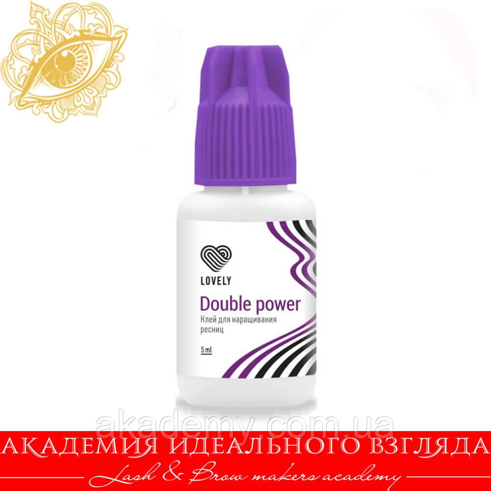 "Клей чёрный Лавли Lovely ""Double Power"", 5мл"