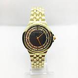 Часы женские наручные в стиле Mісhаеl Коrs (Майкл Корс), золото с черным циферблатом ( код: IBW309YB ), фото 2