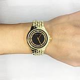 Часы женские наручные в стиле Mісhаеl Коrs (Майкл Корс), золото с черным циферблатом ( код: IBW309YB ), фото 5