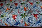 Покрывало стеганое 145х205см Динозавры Zastelli, фото 5