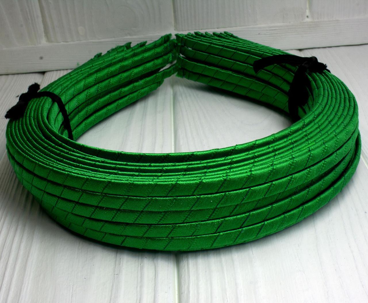 (50шт) Обруч  обмотанный атласной лентой  (5мм металлический).Цена за 50 шт. Цвет - зеленый