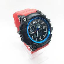 Часы мужские спортивные водостойкие SKMEI 1283 (Скмей) красный цвет ( код: IBW282RBZ )