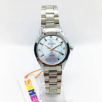 Часы женские наручные Skmei (Скмеи), цвет серебро с голубым циферблатом ( код: IBW289SL )
