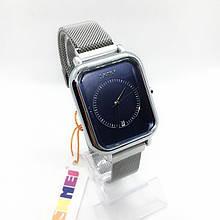 Часы мужские наручные Skmei (Скмеи), цвет серебро с синим циферблатом ( код: IBW290SZ )
