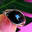 Кольцо из серебра с черным фианитом - Серебряное кольцо с черным камнем, фото 7
