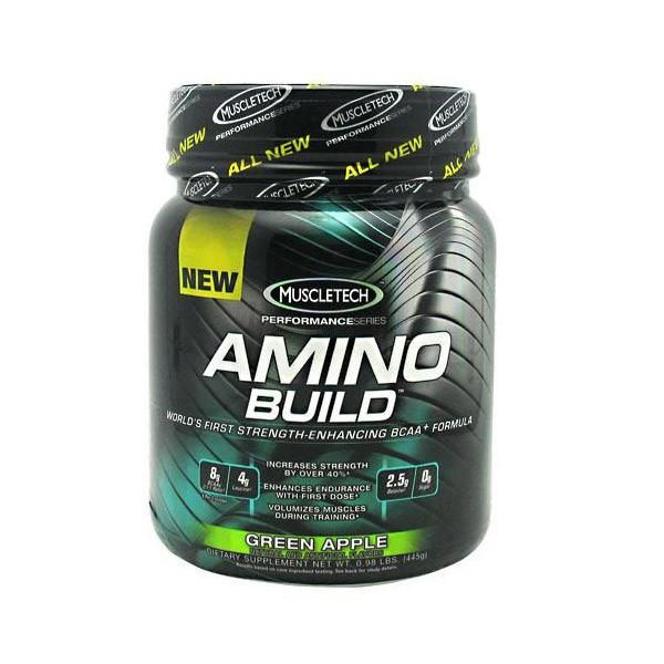 Аминокислоты Amino Build (445 g, green apple) MuscleTech