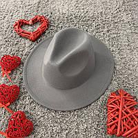 Шляпа Федора унисекс с устойчивыми полями Original серая