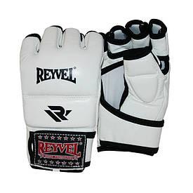 Рукавички для MMA Reyvel M1 вініл білі (M-XL)
