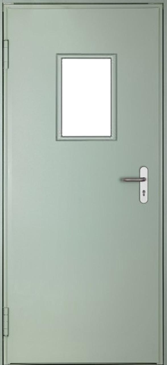 Двері DoorHan технічні одностулкові засклені DTО/1080/2050/7035/R/N