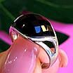 Кольцо из серебра с черным фианитом - Серебряное кольцо с черным камнем, фото 2