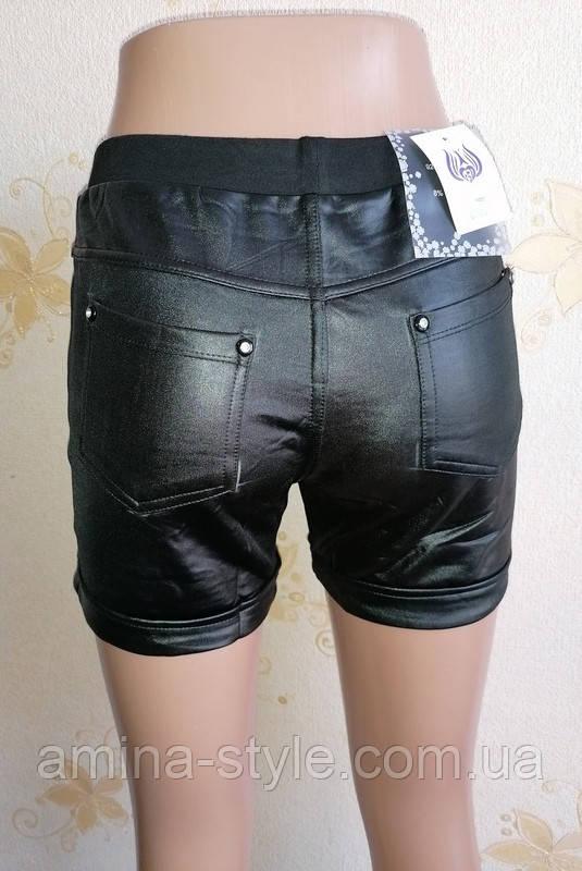 Женские черные шортики с карманами. Размер 44-48